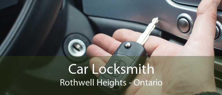Car Locksmith Rothwell Heights - Ontario