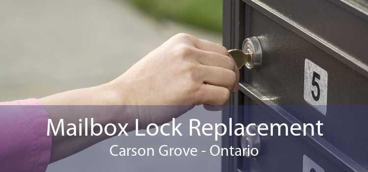 Mailbox Lock Replacement Carson Grove - Ontario